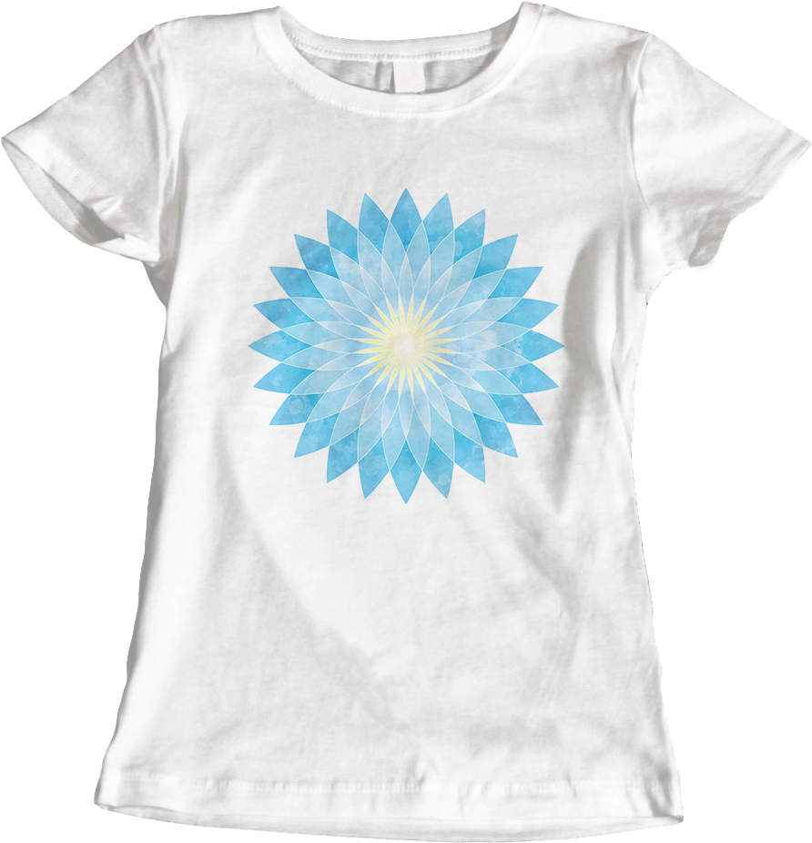 Lotus Flower Mandala_Women's White T-Shirt by Daniel Bevis