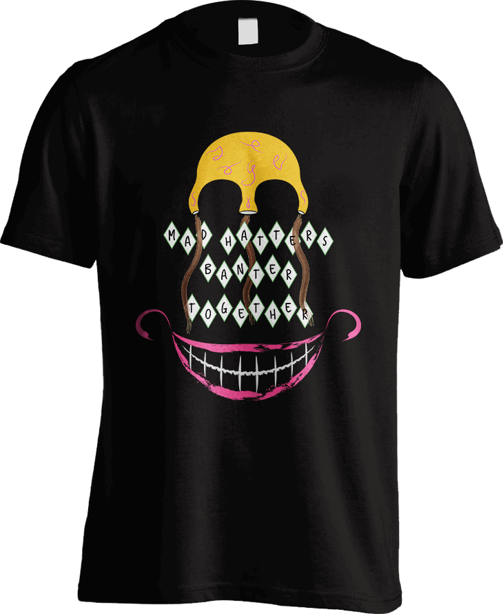 Mad Hatters - Black Mens T-Shirt by Daniel Bevis