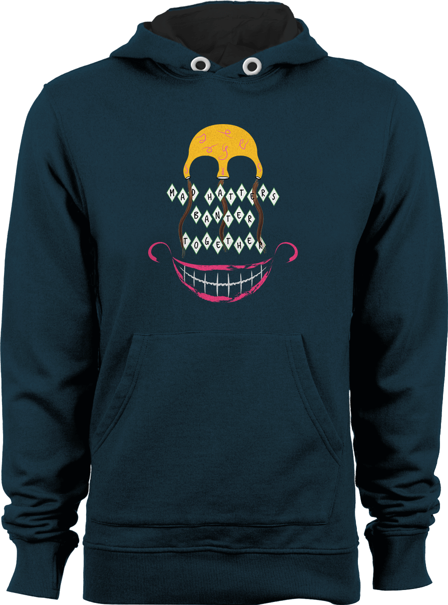 Mad Hatters_Unisex New French Navy Hoodie by Daniel Bevis