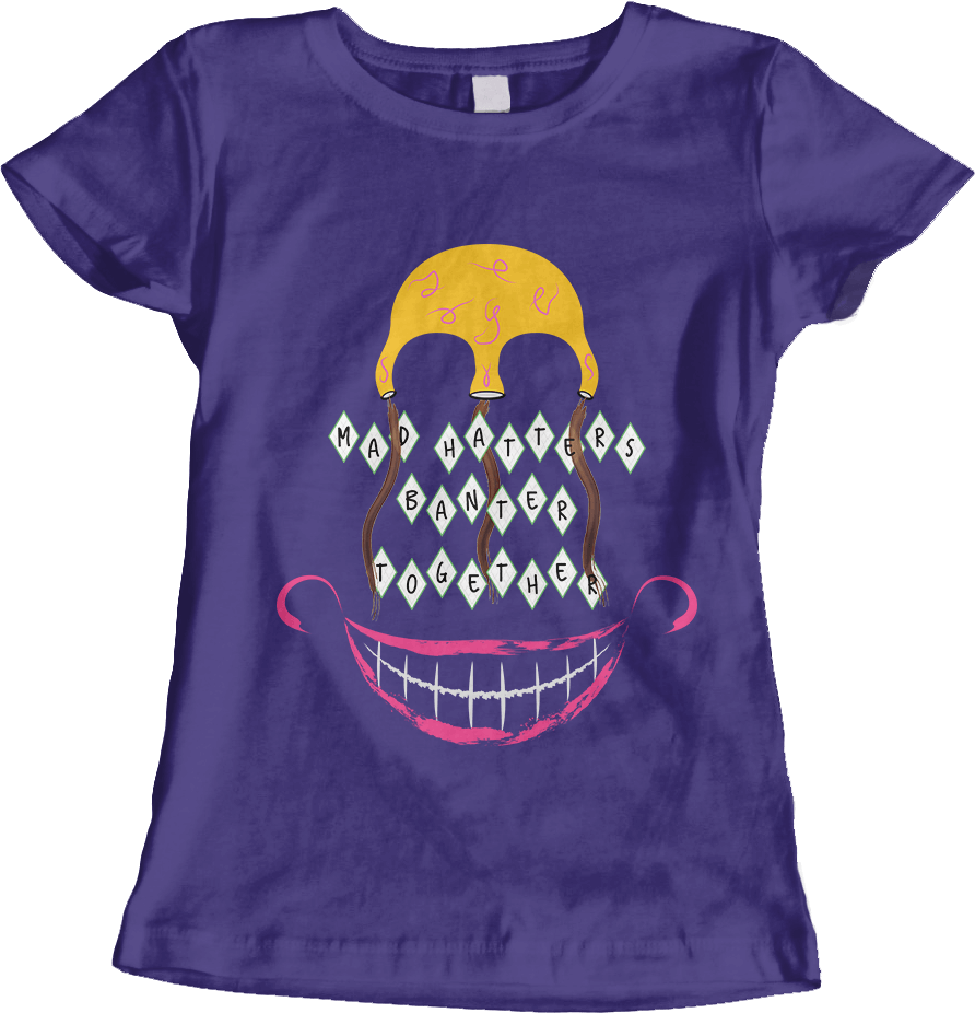 Mad Hatters - Purple Women's T-Shirt by Daniel Bevis