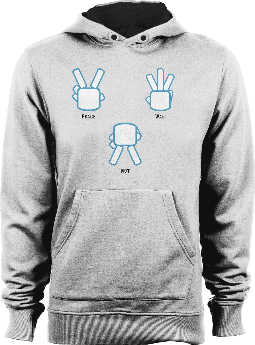 Peace Not War - White Unisex Hoodie by Daniel Bevis