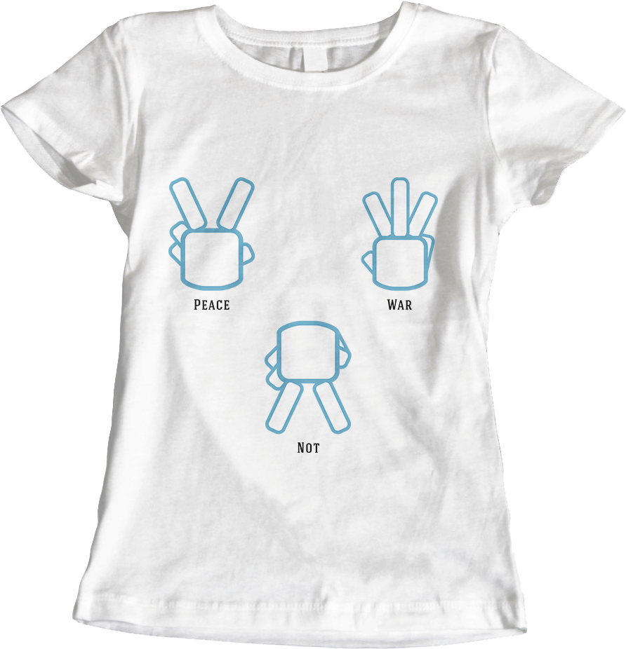 Peace Not War - White Women's T-Shirt by Daniel Bevis