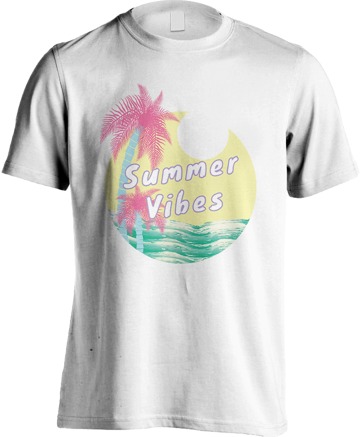 Summer Vibes - White Men's T-Shirt by Daniel Bevis