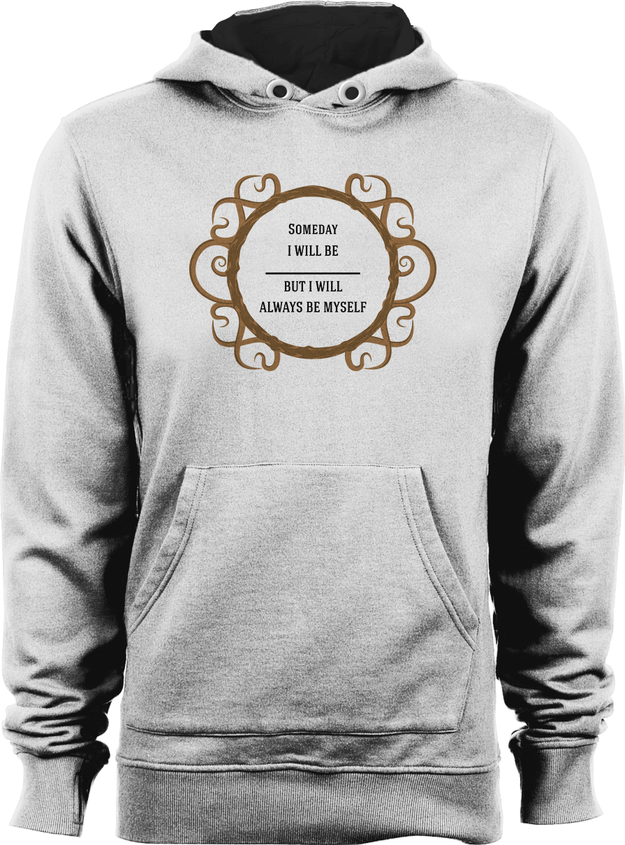 Thine Own Self_White Unisex Hoodie by Daniel Bevis