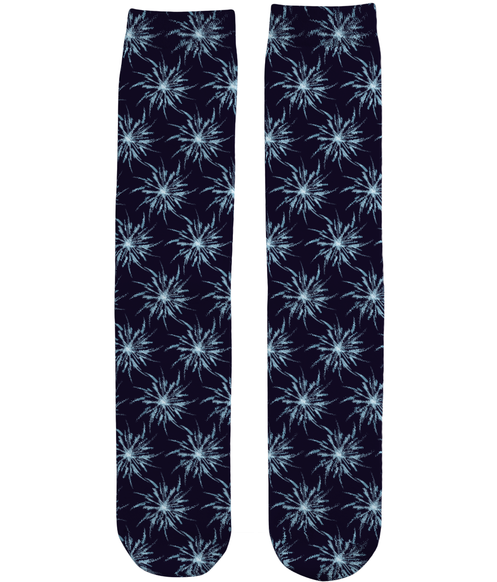 Christmas Snowflakes Pattern - Unisex Sublimation Tube Socks by Daniel Bevis