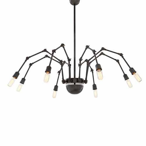 Ceiling Lamp Spider in Light Bronze