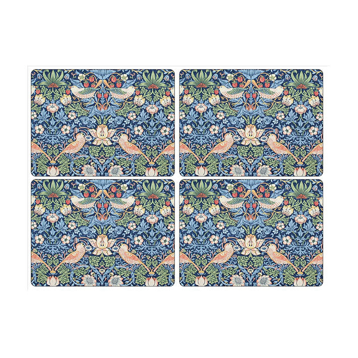 Morris and Co for Pimpernel Strawberry Thief Blue Large Placemats Set of 4