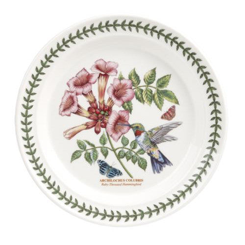 "Portmeirion Garden Birds Plate 8"" Ruby Throated Hummingbird"