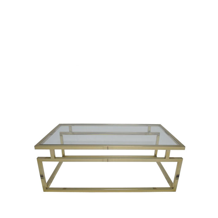 Coffee Table w/ Clear Glass Top