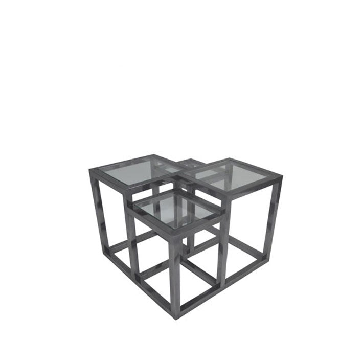 Side Table w/ Clear Glass Top