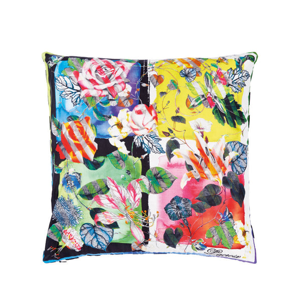 Carre De Roses Multicolore Cushion