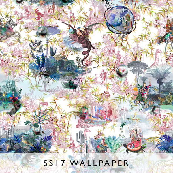 Wallpaper Reveries Tomette | Christian Lacroix