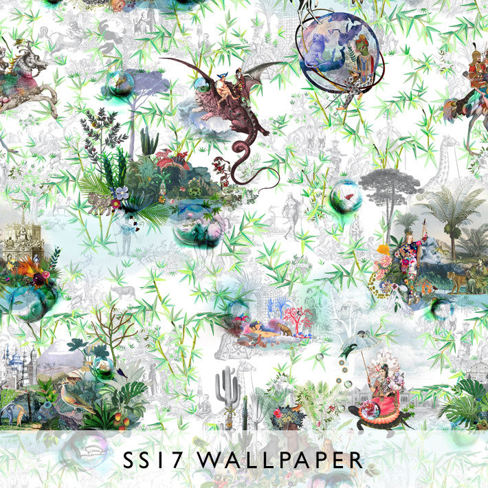 Wallpaper Reveries Vert Buis | Christian Lacroix
