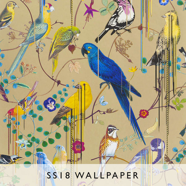 Wallpaper Birds Sinfonia in Or | Christian Lacroix SS18 | Janine Kuala Lumpur
