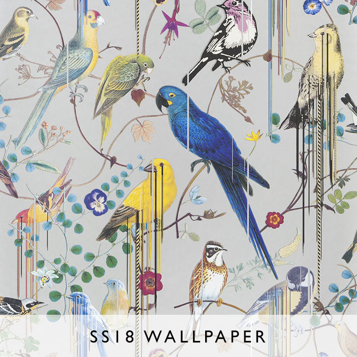 Wallpaper Birds Sinfonia in Argent | Christian Lacroix SS18 | Janine Kuala Lumpur