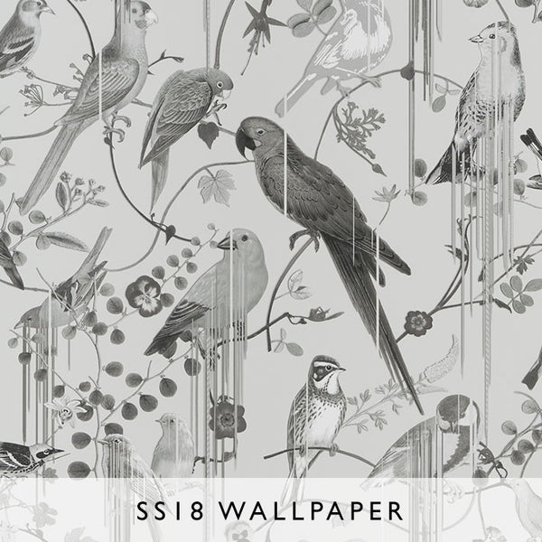 Wallpaper Birds Sinfonia in Graphite | Christian Lacroix SS18 | Janine Kuala Lumpur
