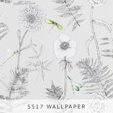 Wallpaper Acanthus Graphite