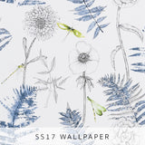 Wallpaper Acanthus Indigo