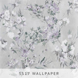 Wallpaper Faience Silver
