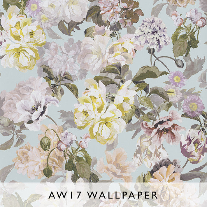 Wallpaper Delft Flower Duck Egg