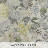Wallpaper Delft Flower Pewter