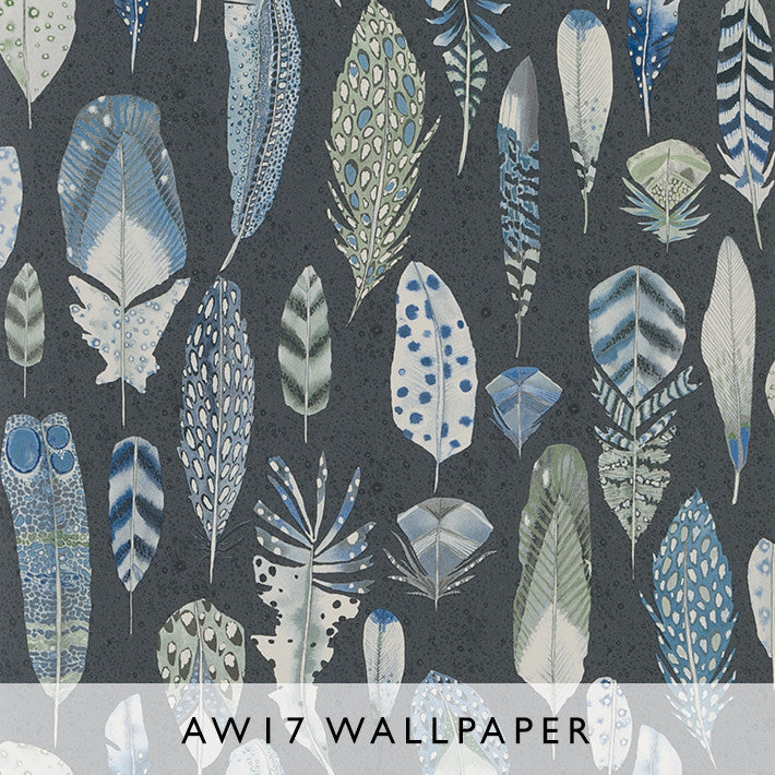 Wallpaper Quill Cobalt