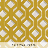 Wallpaper Chareau in Chartreuse | Designers Guild SS18 | Janine Kuala Lumpur