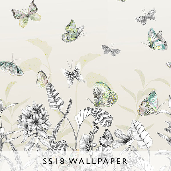 Wallpaper Papillons in Birch | Designers Guild SS18 | Janine Kuala Lumpur