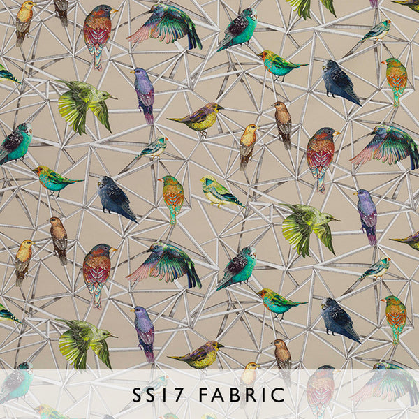 Fabric Enchanted Gardens Aviary 02