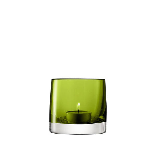 LSA International Light Colour Tealight Holder Olive