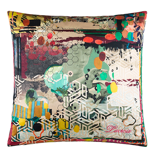 Grand Tour Tomette Cushion by Christian Lacroix