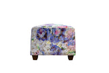 Ryden Footstool in Designers Guild Porcelain Rose