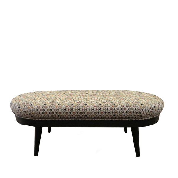 Oblong Footstool in Osborne & Littles Gloriana Pelangi