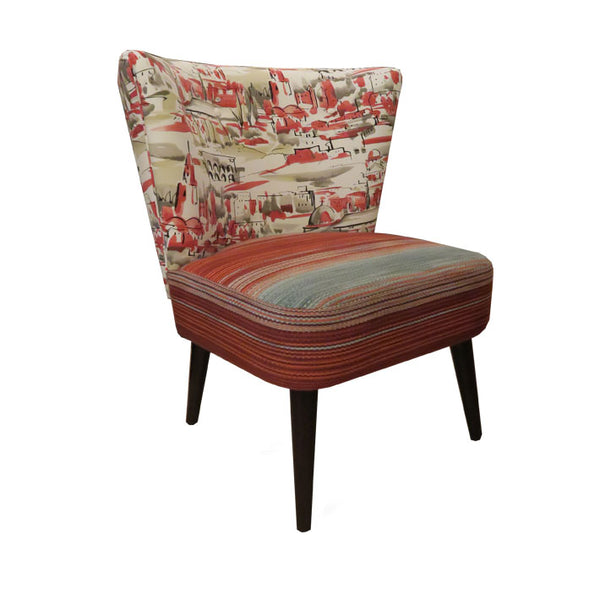 Julep Chair in Gaston Daniela Segovia Rojo Fabric