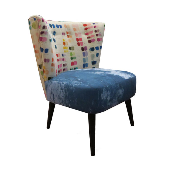 Julep Chair in Designers Guild Mixed Tones Canvas Fabric