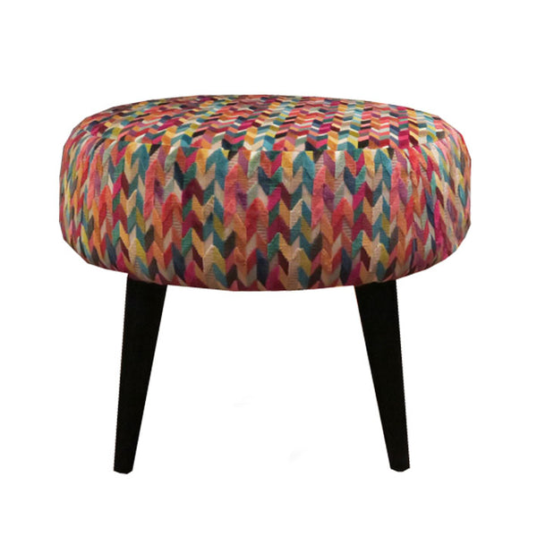 Midi Meringue Stool in Osborne & Little's Gloriana Felicia Multi