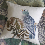 John Derian Parrot and Palm Parchment Cushion 50 x 50cm