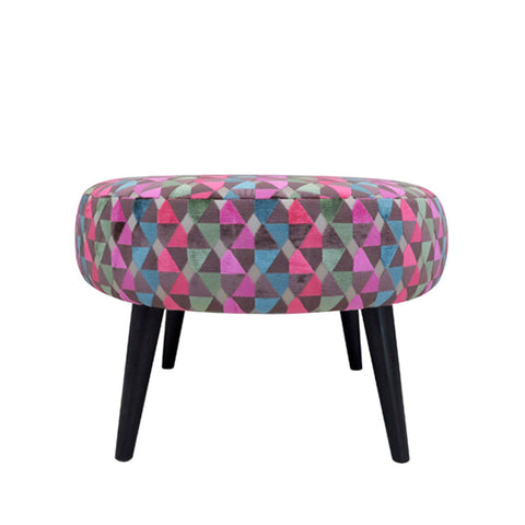 Meringue Footstool in Memphis Marvin Coral
