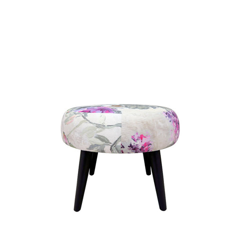 Mini Meringue Footstool in Designers Guild Caprifoglio Grande