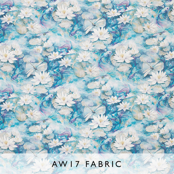 Fabric Water Lily 01 by Matthew Williamson Belvoir Autumn Winter 2017 at Janine Kuala Lumpur