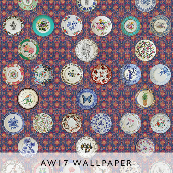 Wallpaper Ceramica red Matthew Williamson