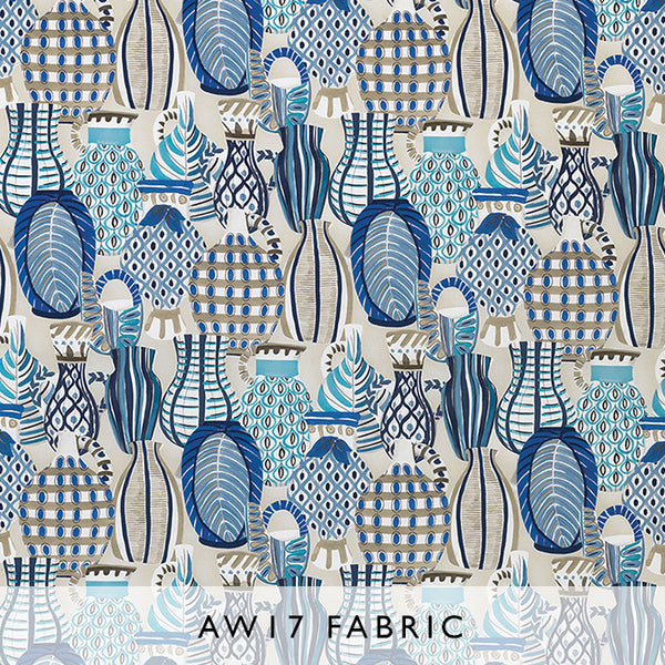 Nina Campbell Fabric Collioure in Indigo from Les Reves collection Janine Kuala Lumpur Malaysia