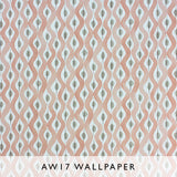Nina Campbell Wallpaper Beau Rivage in Peach Les Reves collection Janine Kuala Lumpur Malaysia