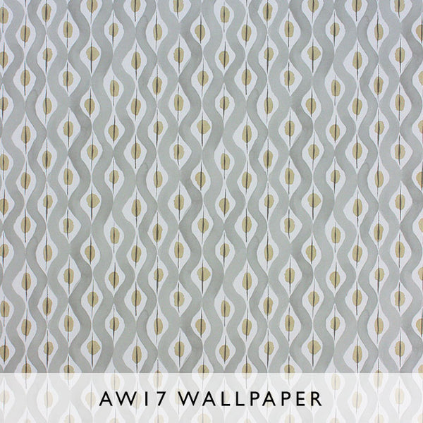 Nina Campbell Wallpaper Beau Rivage in Grey/Yellow Les Reves collection Janine Kuala Lumpur Malaysia