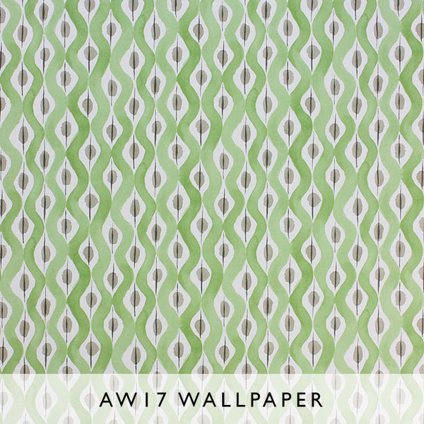 Nina Campbell Wallpaper Beau Rivage in Green Les Reves collection Janine Kuala Lumpur Malaysia