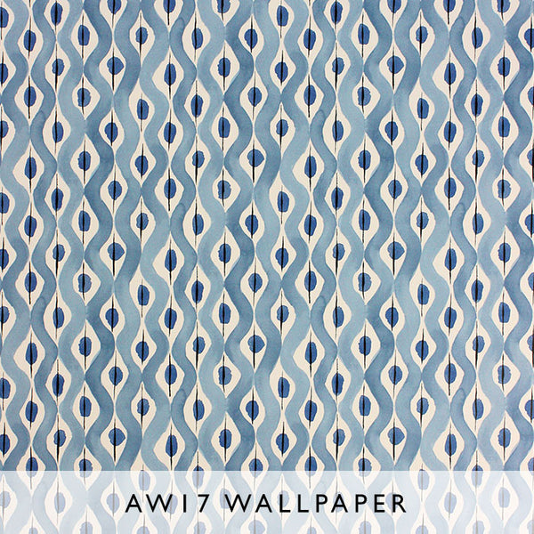 Nina Campbell Wallpaper Beau Rivage in navy blue Les Reves collection Janine Kuala Lumpur Malaysia