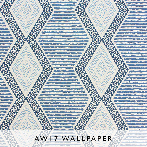 Nina Campbell Wallpaper Belle Ile in Blue Les Reves AW17 Janine Kuala Lumpur