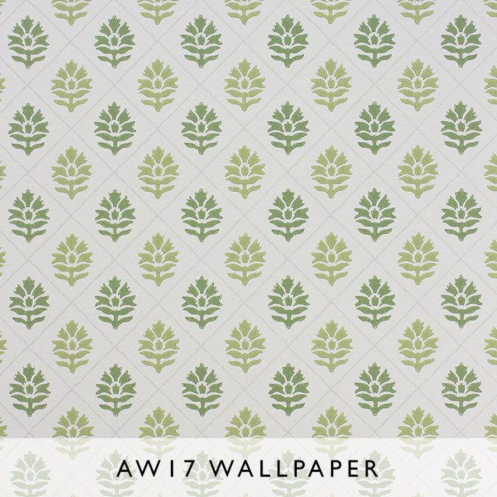 Nina Campbell Wallpaper Camille in Moss Green from Les Reves Collection Janine Kuala Lumpur Malaysia