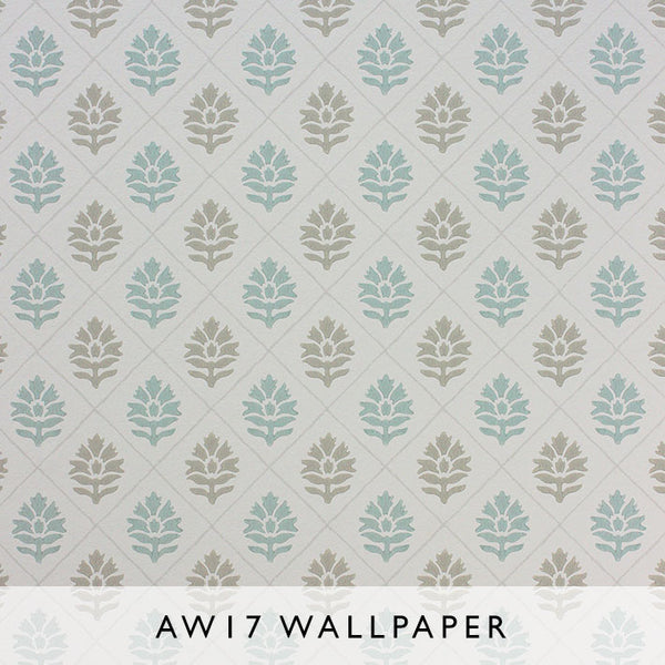 Nina Campbell Wallpaper Camille in Turquoise from Les Reves Collection Janine Kuala Lumpur Malaysia