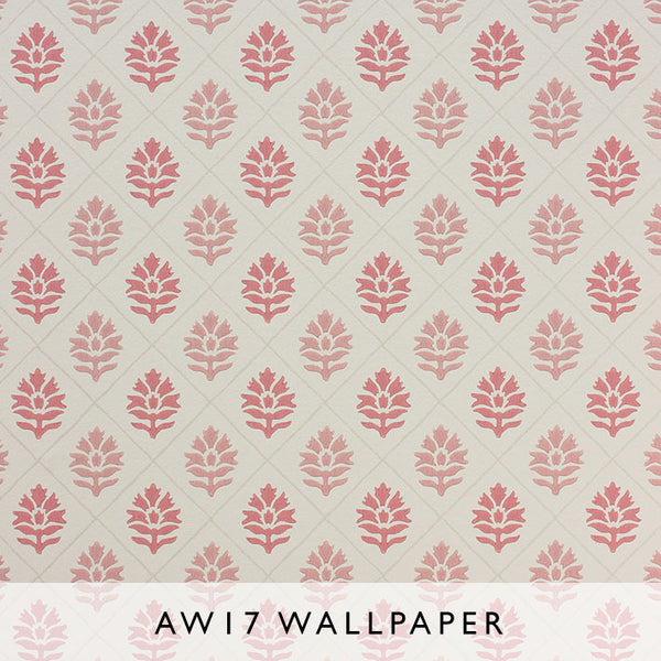 Nina Campbell Wallpaper Camille in Salmon from Les Reves Collection Janine Kuala Lumpur Malaysia